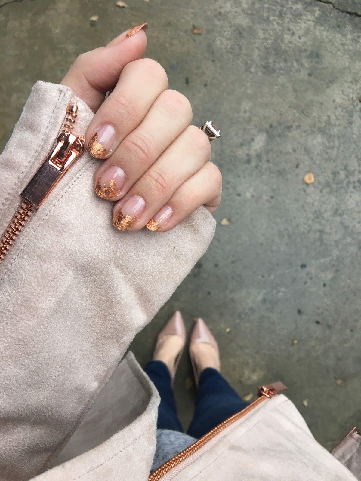 Rose Gold Foil Nail Art Beauty Nail Art Nails Rose Gold Its