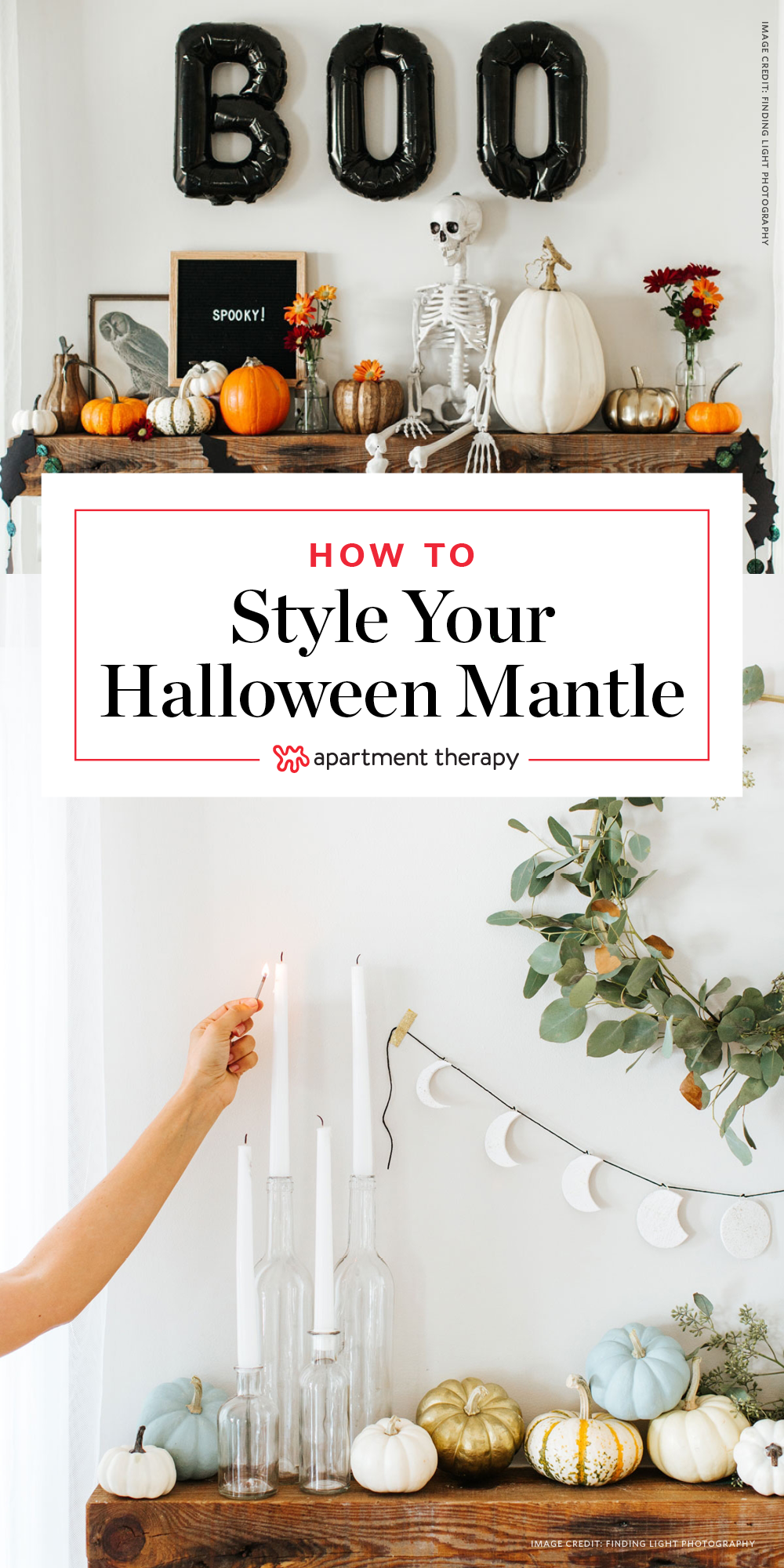 Your Halloween Mantel 3 Ways Modern, Glam Goth & Classic-