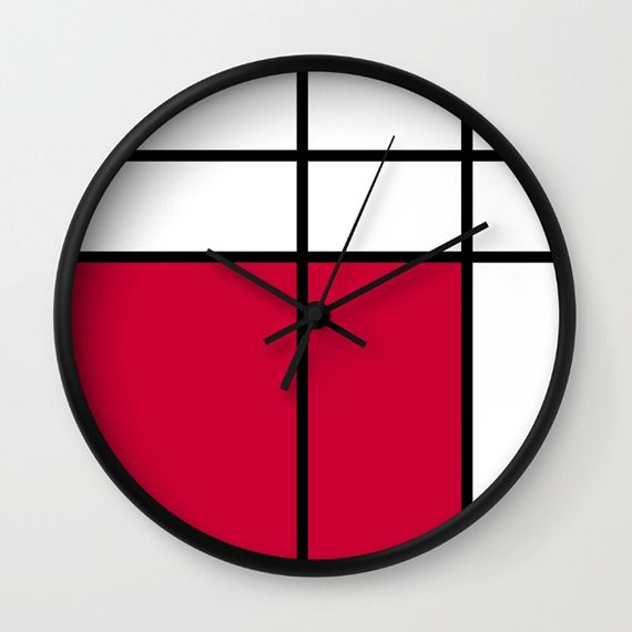 Creative Wall Clock Designs Decorate With Clocks Mondrian Piet Art 570x570