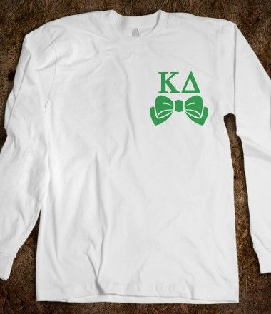Kappa Delta Long Sleeve Tee - Kappa Delta Bows Long Sleeve Tee CLICK HERE to purchase :) sorority shirts - Buy 1 or 100!