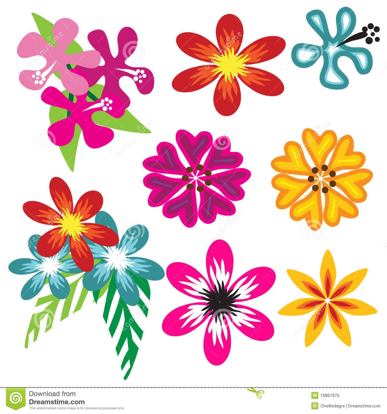 Pin by foli orellana on foli pinterest hawaiian flowers colorful hawaiian flower set stock vector illustration of petals swirl 16867975 izmirmasajfo
