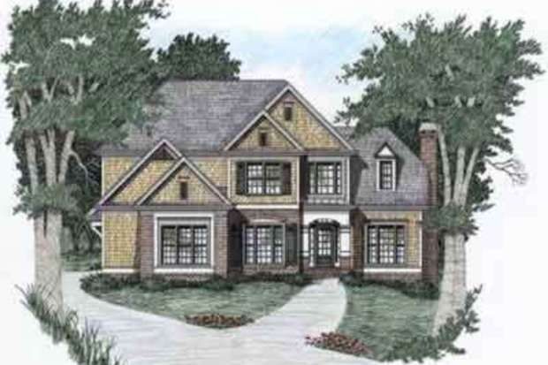 Traditional Style House Plan - 4 Beds 3 Baths 2329 Sq/Ft Plan #129-103 Front Elevation - Houseplans.com