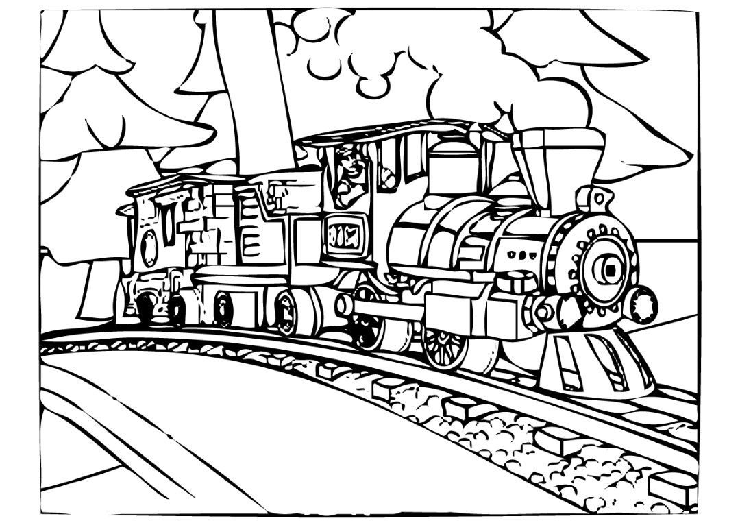 Polar Express Coloring Pages Train coloring pages
