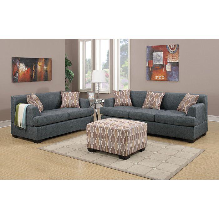 Merveilleux Poundex Bobkona Baldwin Sofa And Loveseat Set U0026 Reviews | Wayfair
