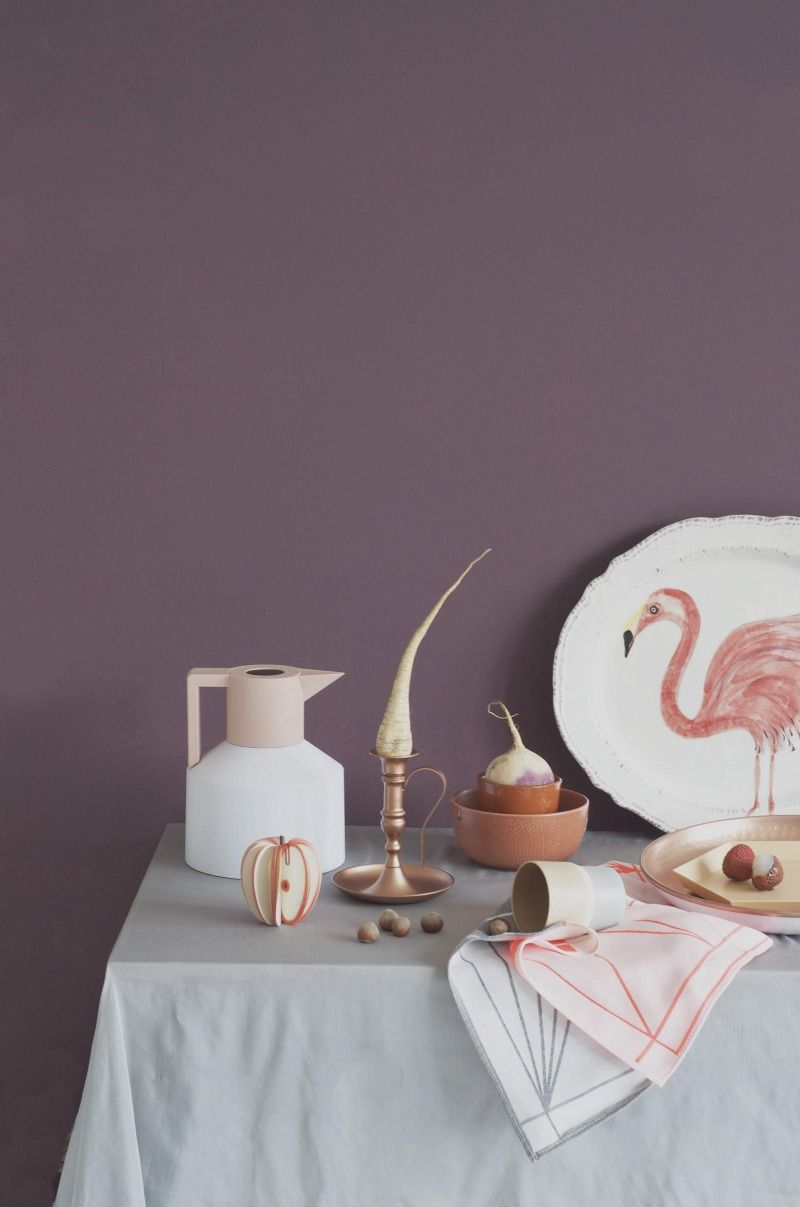 Pastell Lila Wandfarbe Marlies Janse Still Life Set Design Product Presentation