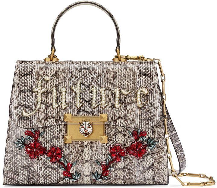 Snakeskin top handle bag purses gucci handbags love