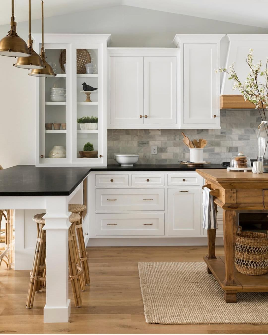 White Kitchen Cabinets For Sale: WHAT.A.KITCHEN! The White, The Wood, The Dark Counters