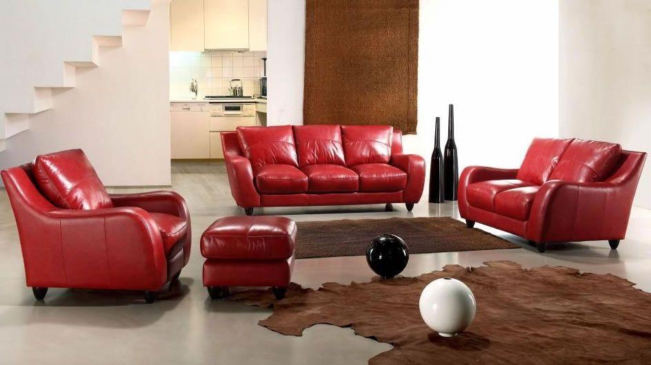 Bremen Full Leather Red Sofa Set Products Pinterest Sofa Sofa