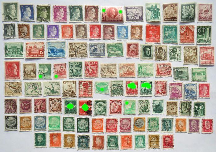 Online veilinghuis Catawiki: Groot Kavel van 102 stuks Derde Rijk postzegels - WO2.