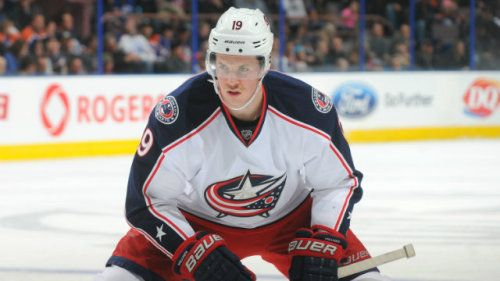 Ryan Johansen Banged Up Columbus Blue Jackets Hockey Teams Blue Jacket