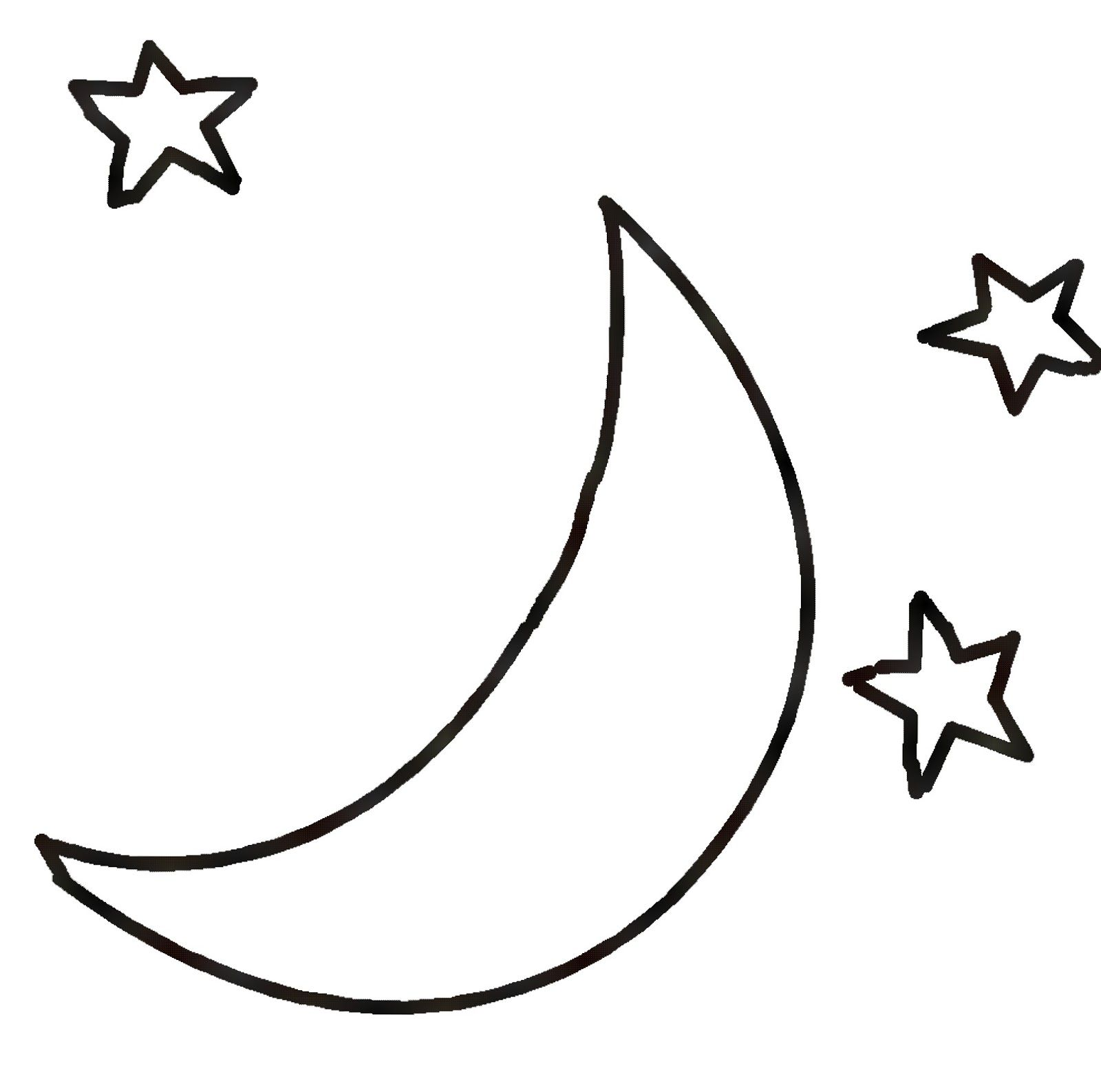 Black And White Moon Clipart Clipartxtras With Images Star