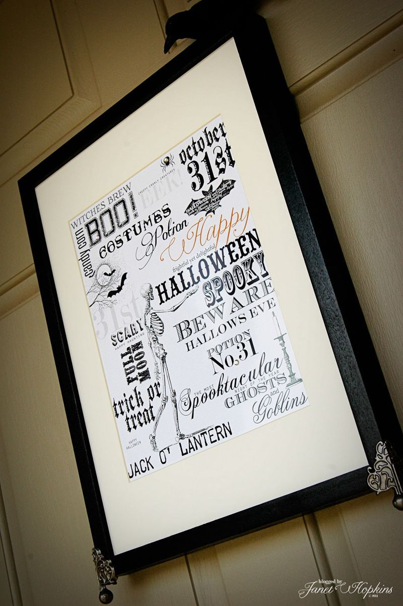 Create a Halloween Art Print and insert it in a FJÄLLSTA picture frame! Wedding!!!!