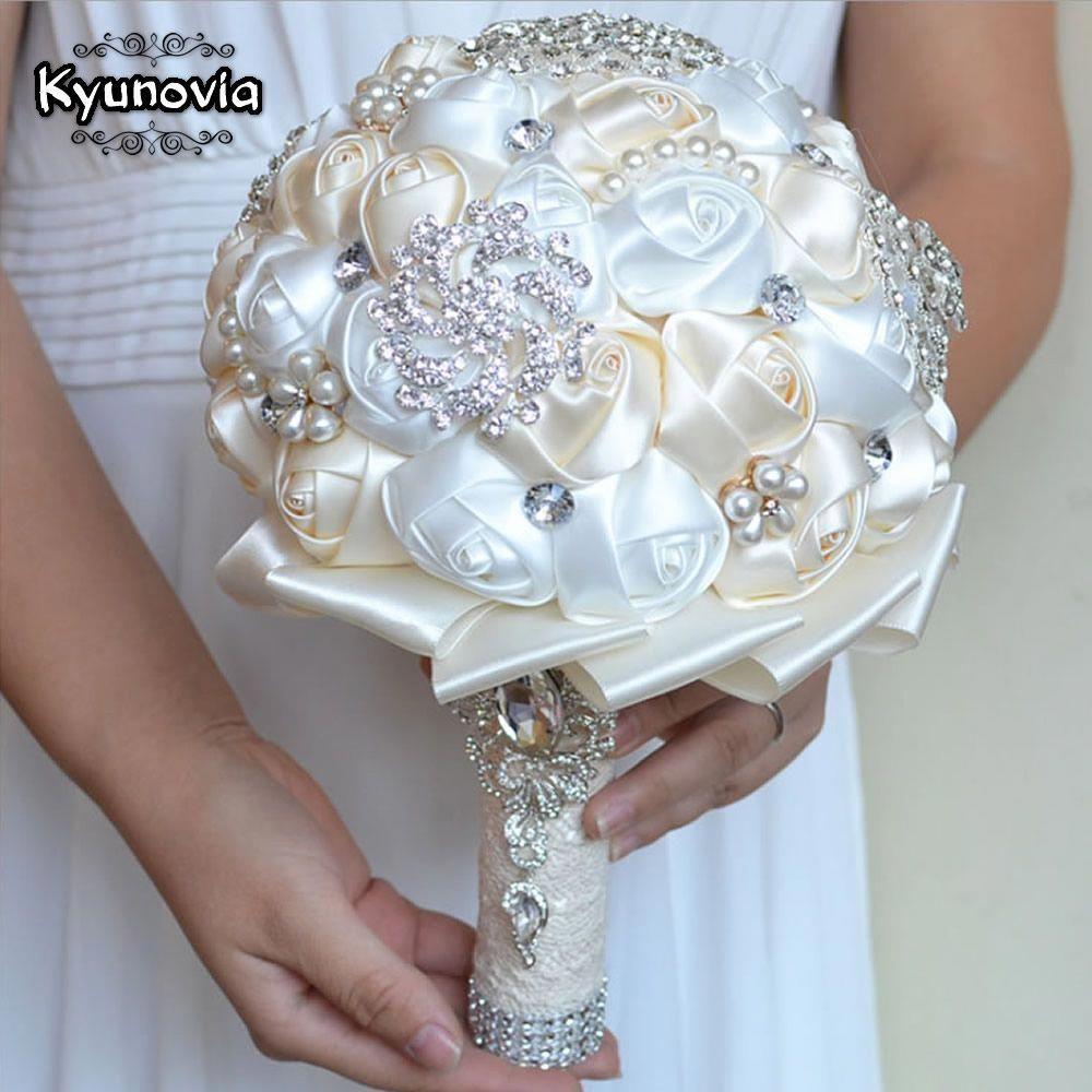 Bouquet Da Sposa Prezzi.Kyunovia Miglior Prezzo Bianco Avorio Spilla Bouquet Da Sposa