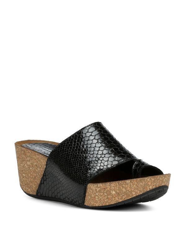 Donald Pliner Women's Ginie Embossed Leather Platform Wedge Sandals yomFp