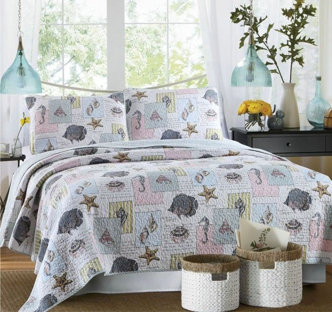 Ocean House Queen To King Bed Coverlet Set   Shop