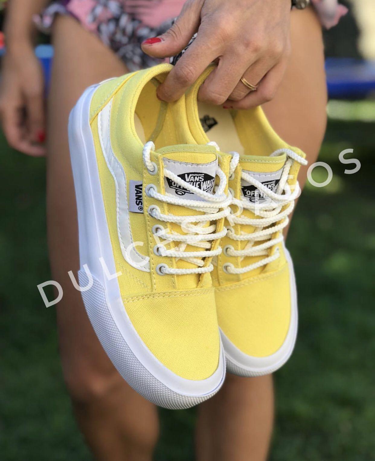 77de246fb Zapatillas Replica con Plataforma  zapatillas  amarillo  plataformas ...