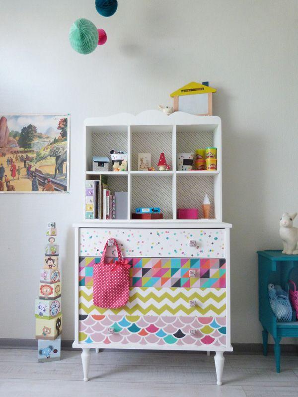 commode chambre b b personnalis d 39 apr s un vieux meuble. Black Bedroom Furniture Sets. Home Design Ideas