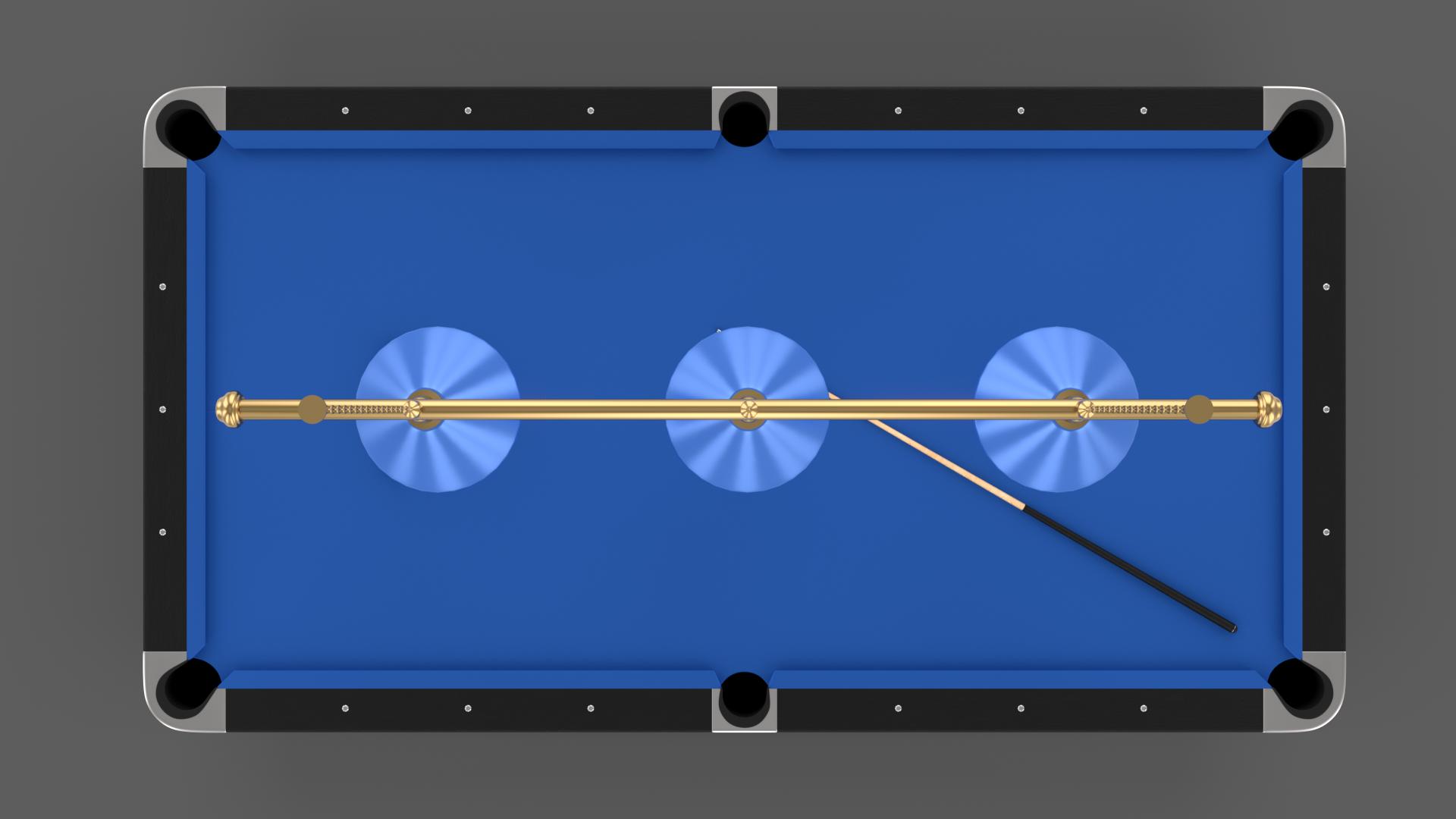 8 Ball Pool Table Setting Blue Pool Table Pool Balls Table Settings