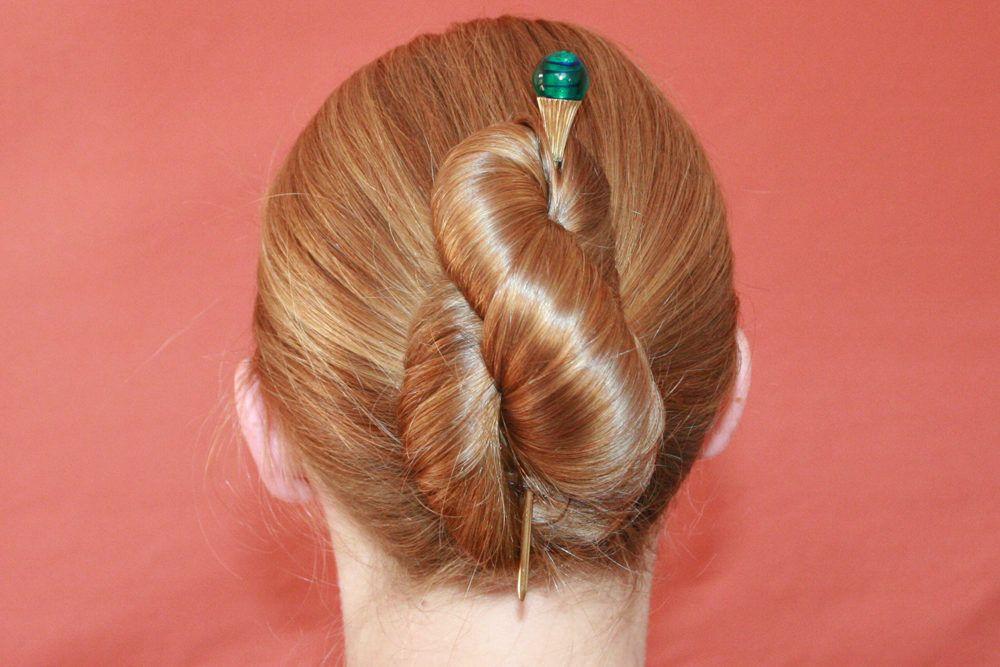 Achterdutt Frisuren Haarstab Frisur Hochgesteckt