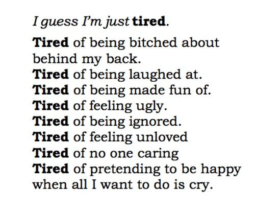 sad and tired quotes