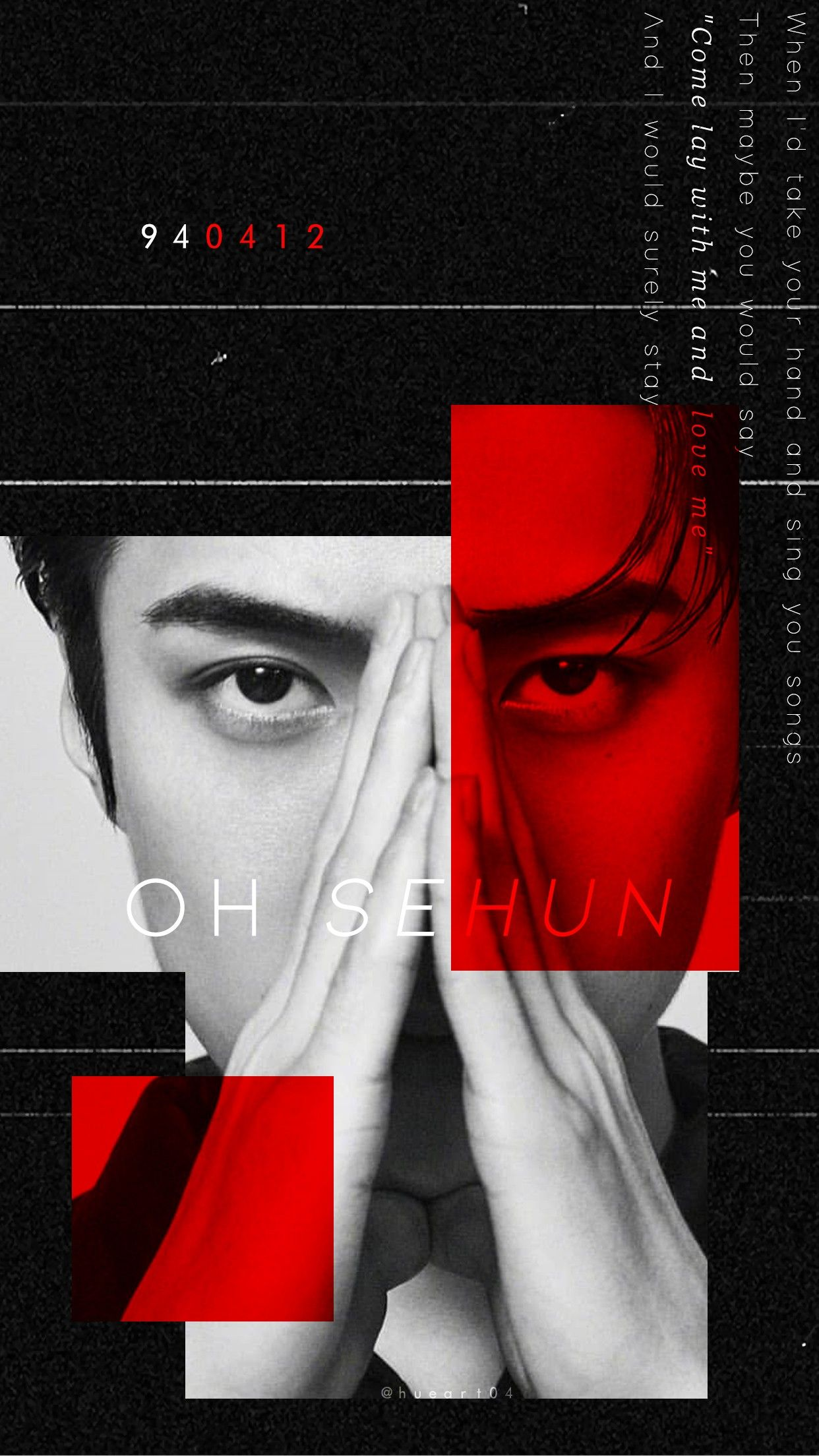 sehun exo ohsehun aesthetic wallpaper red
