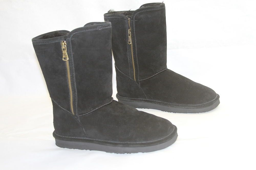 Side zip boots, Suede boots