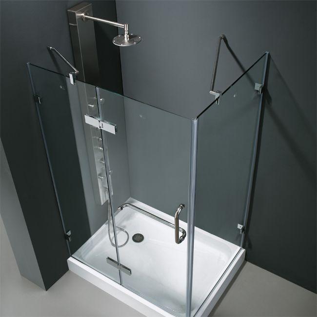 1000x900mm Frameless Pivot Shower Door Enclosure Screen Cubicle