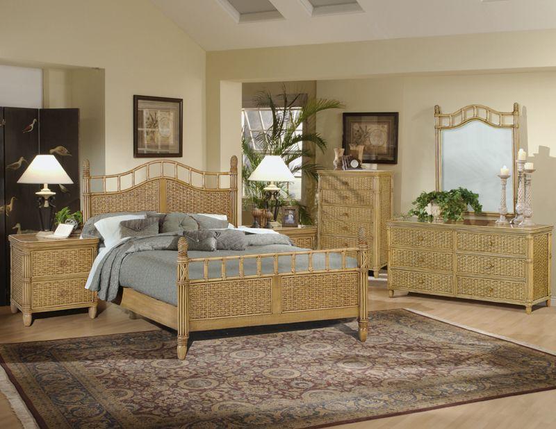 Tropical Wicker Bedroom Sets For Your, Rattan Bedroom Furniture