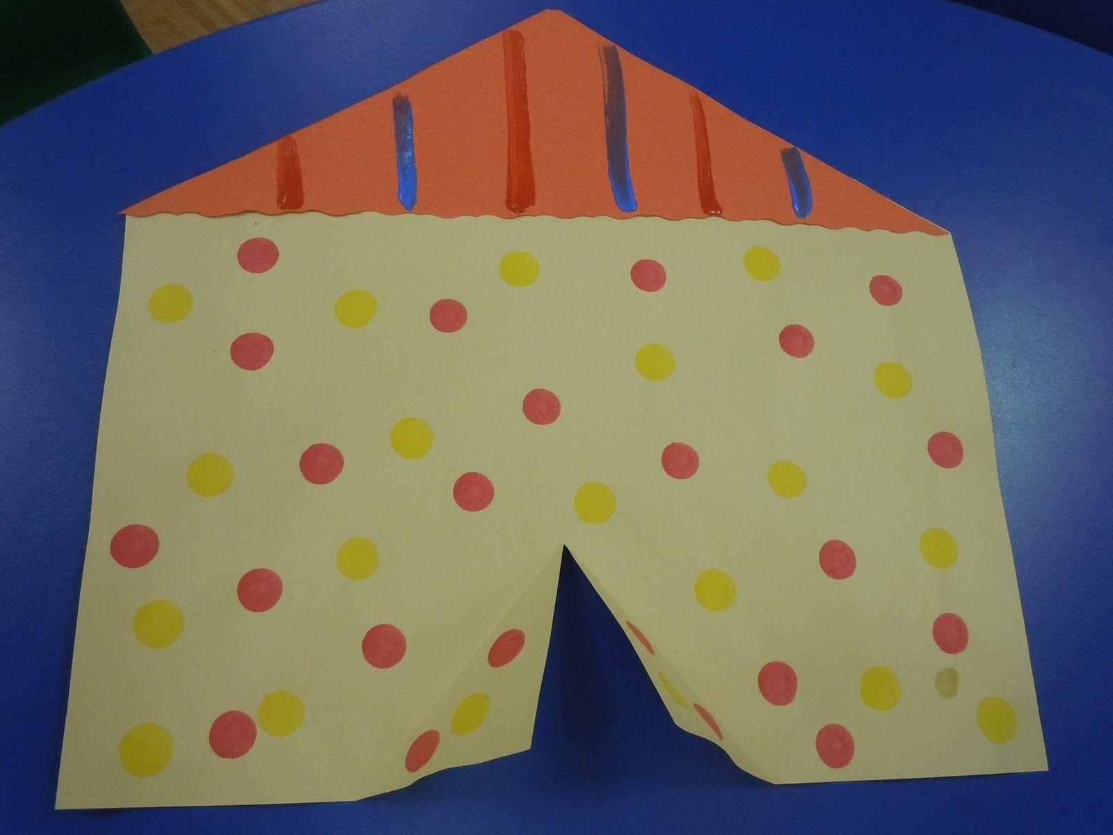 Construction paper tent