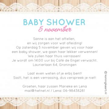 Favoriete Baby Shower Uitnodiging Digitaal FHK-16 | Wofosogo @ON21