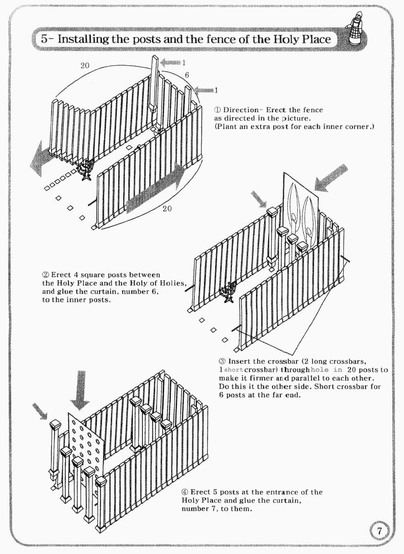 Tabernacle Instructions: Holy Place Walls | Tabernacle ...