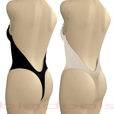 a94204715ca1f Backless Full Body Shaper Thong Convertible Seamless Low Back Max Cleavage  9001