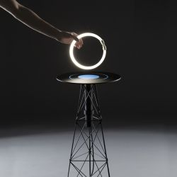 The ElectroMagnetic table produces a localized electromagnetic field when switched on. This field lights up fluorescent tubes within a short...
