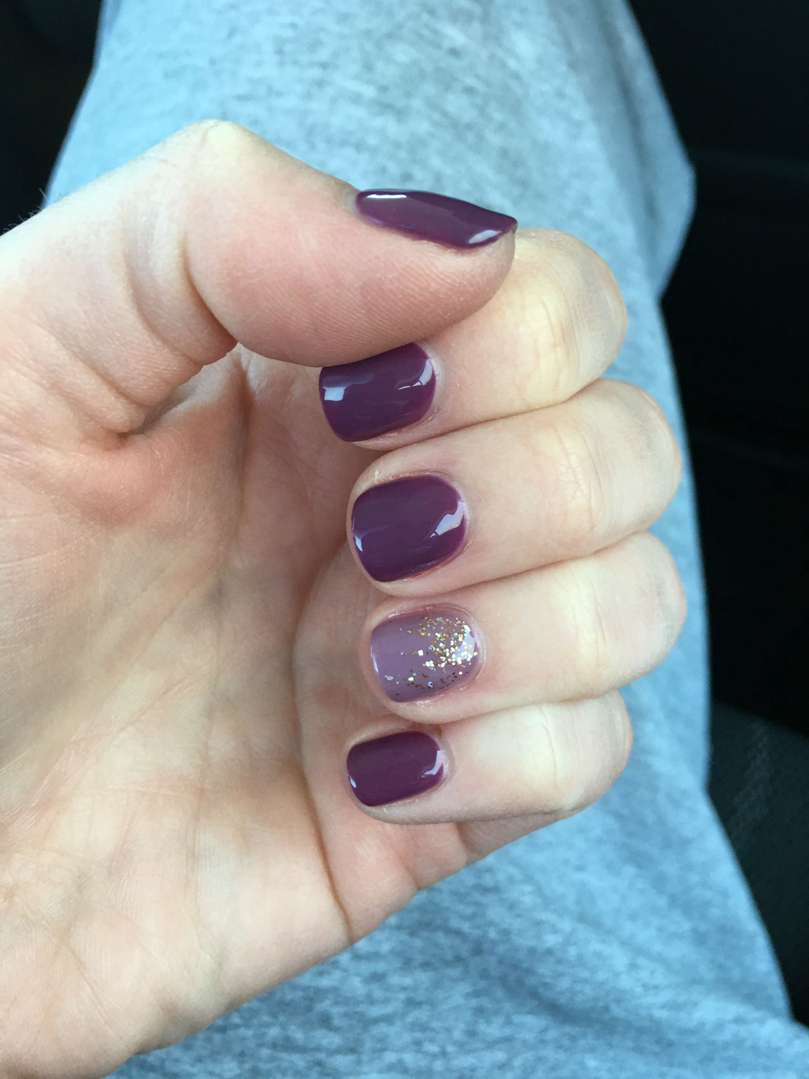 The Dark Purple Without The Accent Nail Nails Nail Art Nail
