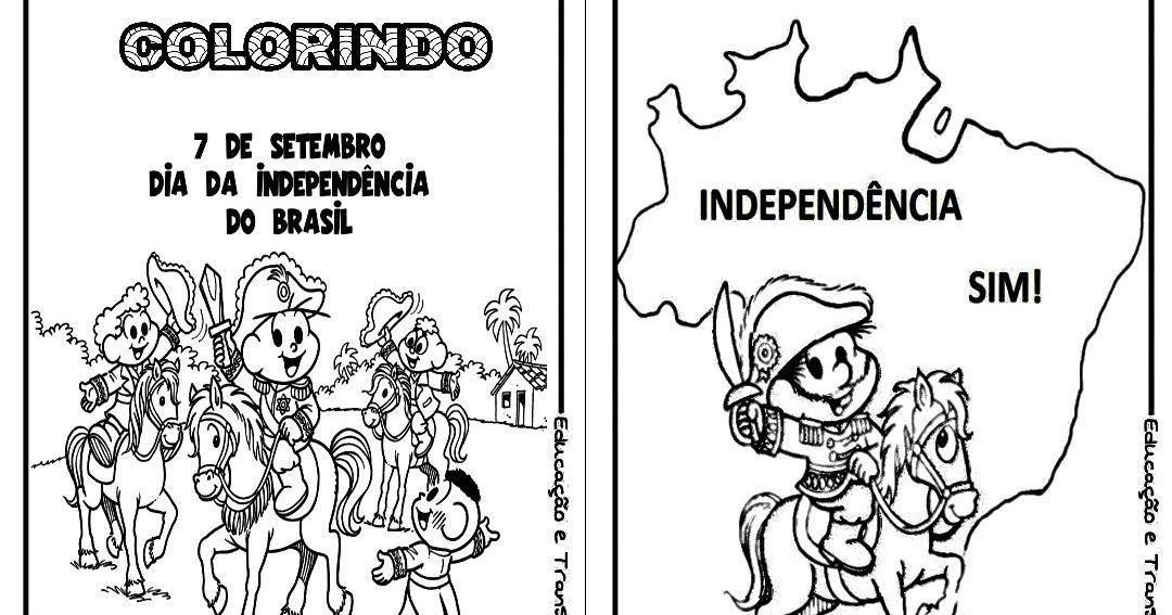 Colorindo Com A Turma Da Monica Independencia Do Brasil