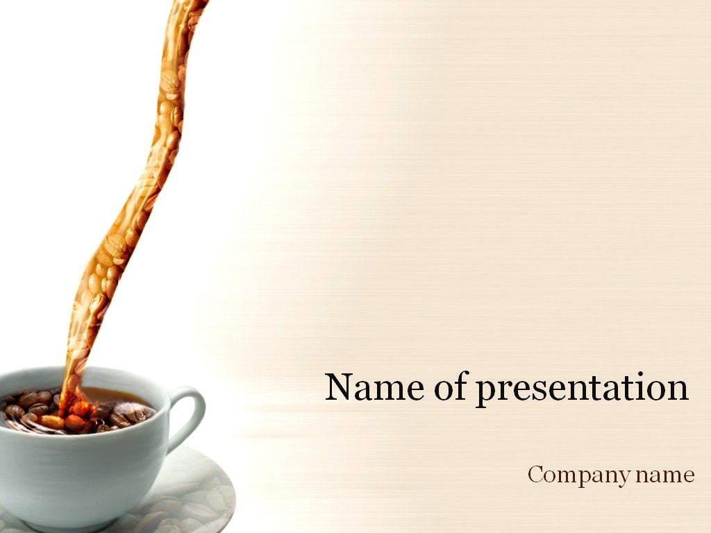 Coffee Cup PowerPoint Template | Templates | Pinterest | Coffee cup ...