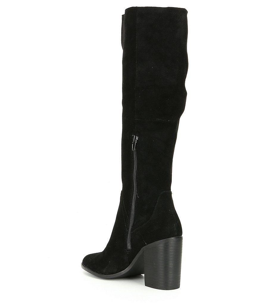 c44490829b2 Steve Madden Roxana Suede Block Heel Boots Roxana