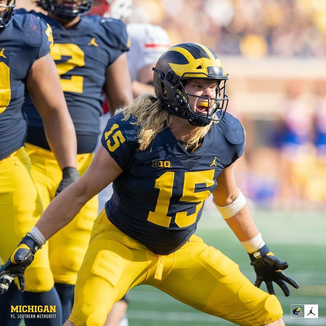 Chase Winovich Star Of The Amazing 2018 Defense Michigan Football Michigan Wolverines Football College Football Players