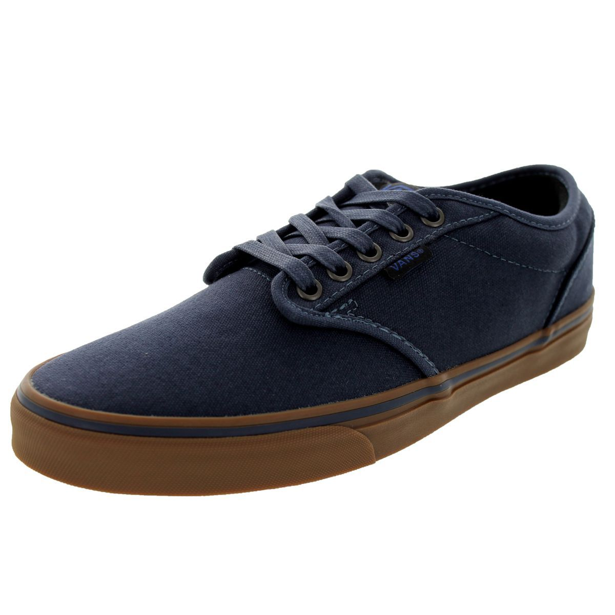 94d87b9feedf Vans Men s Atwood Navy and Gum 12-ounce Canvas Skate Shoes (8.5)