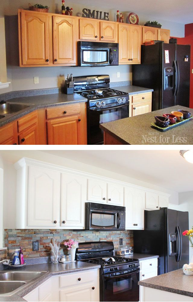 Kitchen Cabinet Makeover Reveal How To Nest For Less Kitchen Remodel Small Kitchen Cabinets Before And After Kitchen Renovation