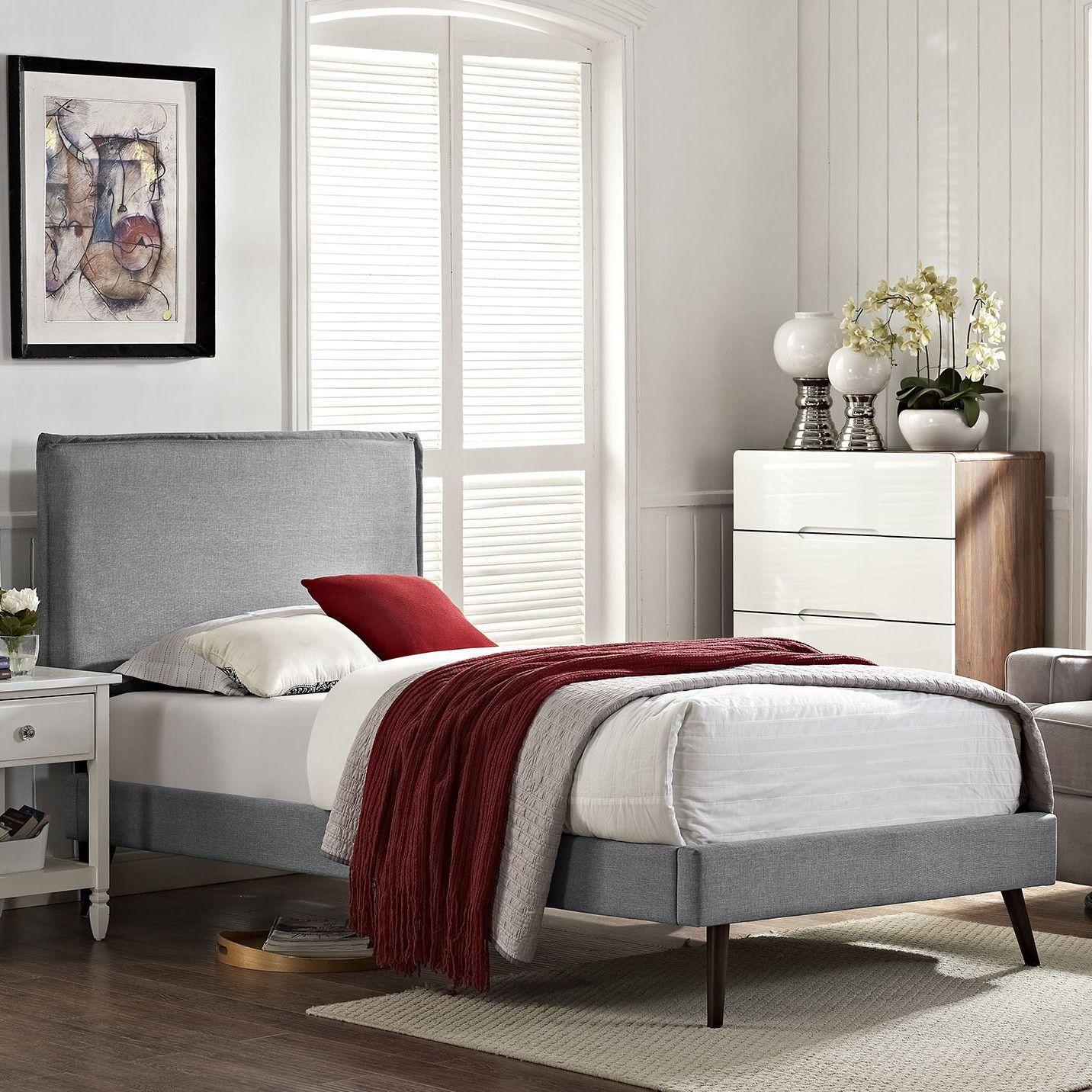 Best Camille Upholstered Platform Bed Upholstered Platform 400 x 300