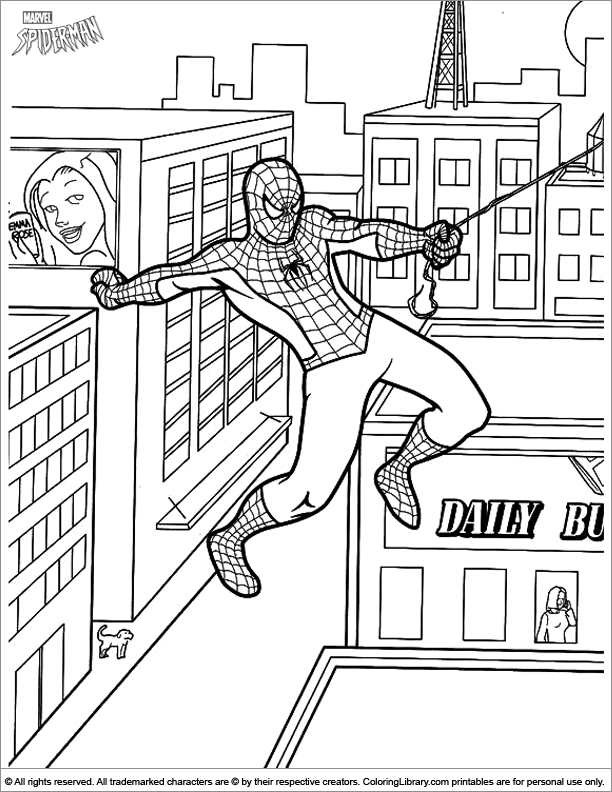 Spider Man Coloring Picture Spiderman Coloring Avengers Coloring Pages Coloring Books