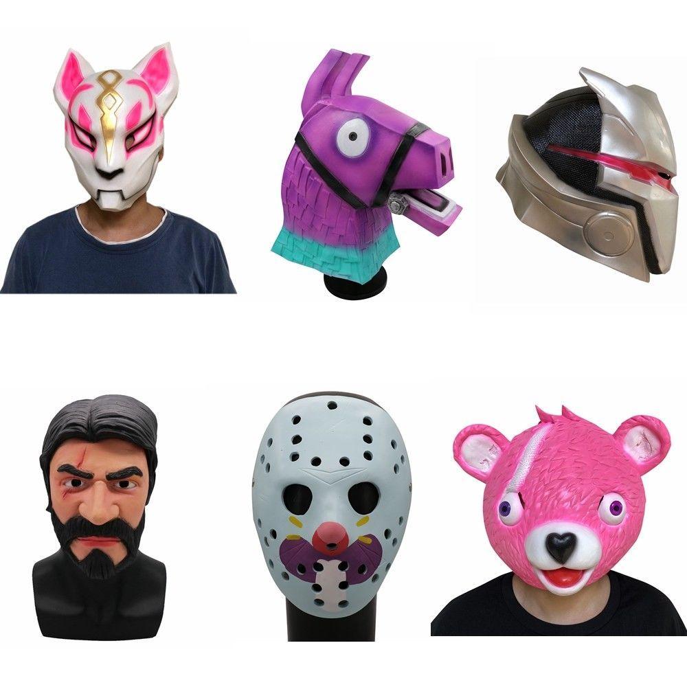 fox drift reaper bear latex cosplay mask helmet halloween costume