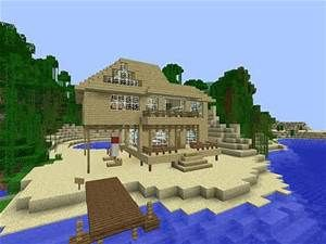 Minecraft Beach House Bing Images Minecraft Beach House Minecraft City Minecraft City Buildings