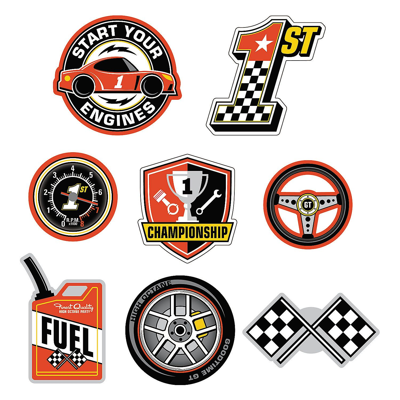 1st Birthday Race Car Wall Cutouts Oriental Trading In 2020 Race Car Themes Race Car Party Car Themes