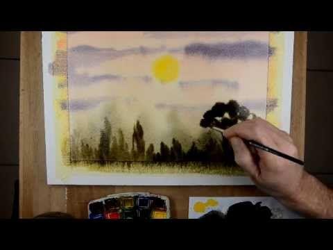Peindre A L Aquarelle En Exterieurs Watercolor Tutorial
