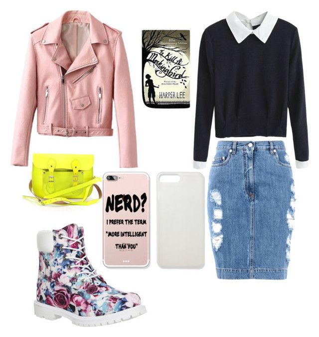 """NERD on Edge"" by raquel-rios on Polyvore featuring Moschino, Timberland and"