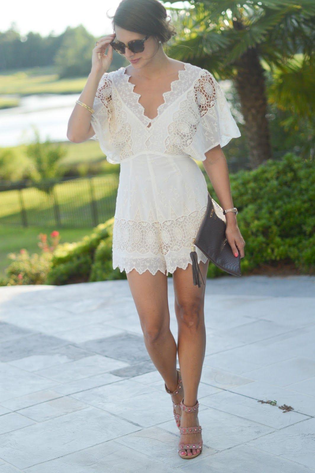 Perfect White Romper Bachelorette Outfits Bachlorette Party Outfits Bachelorette Party Outfit [ 1600 x 1064 Pixel ]