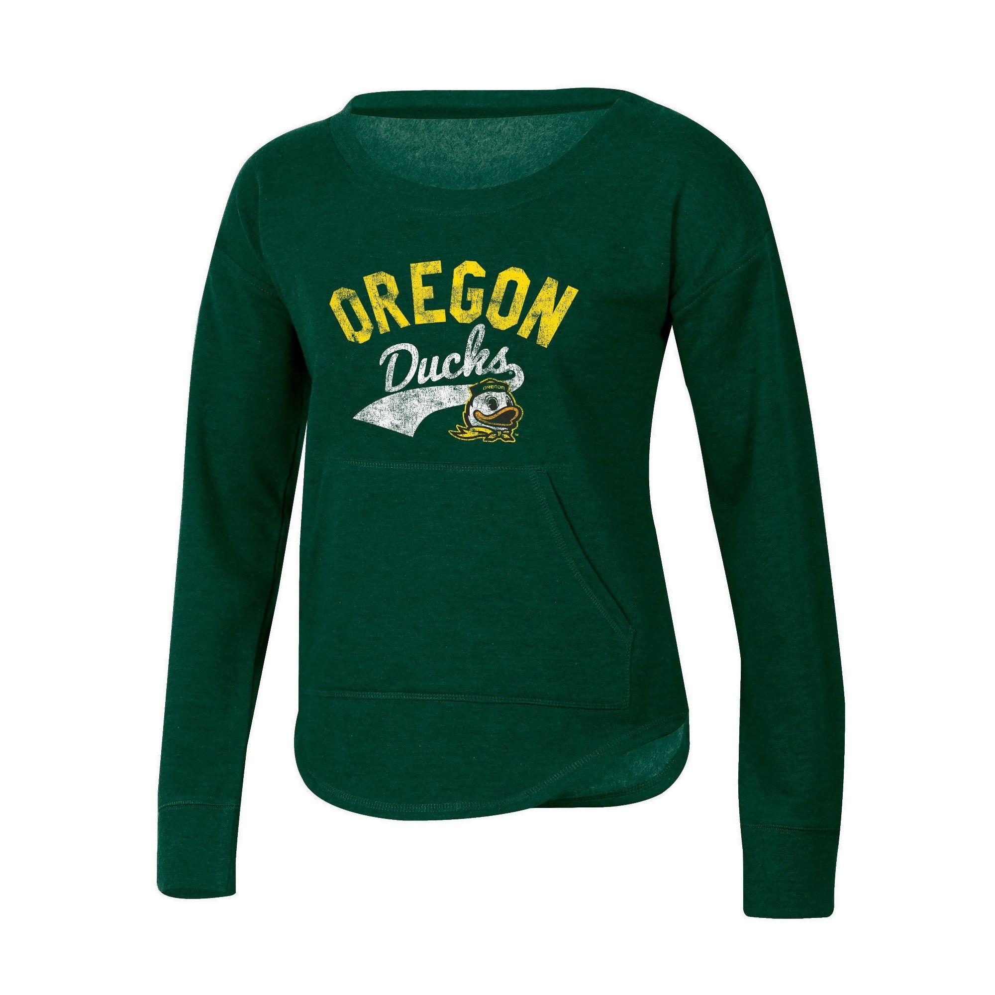 e51e805332c0 NCAA Women s Campfire Long Sleeve Crewneck Fleece Shirt Oregon Ducks - XL