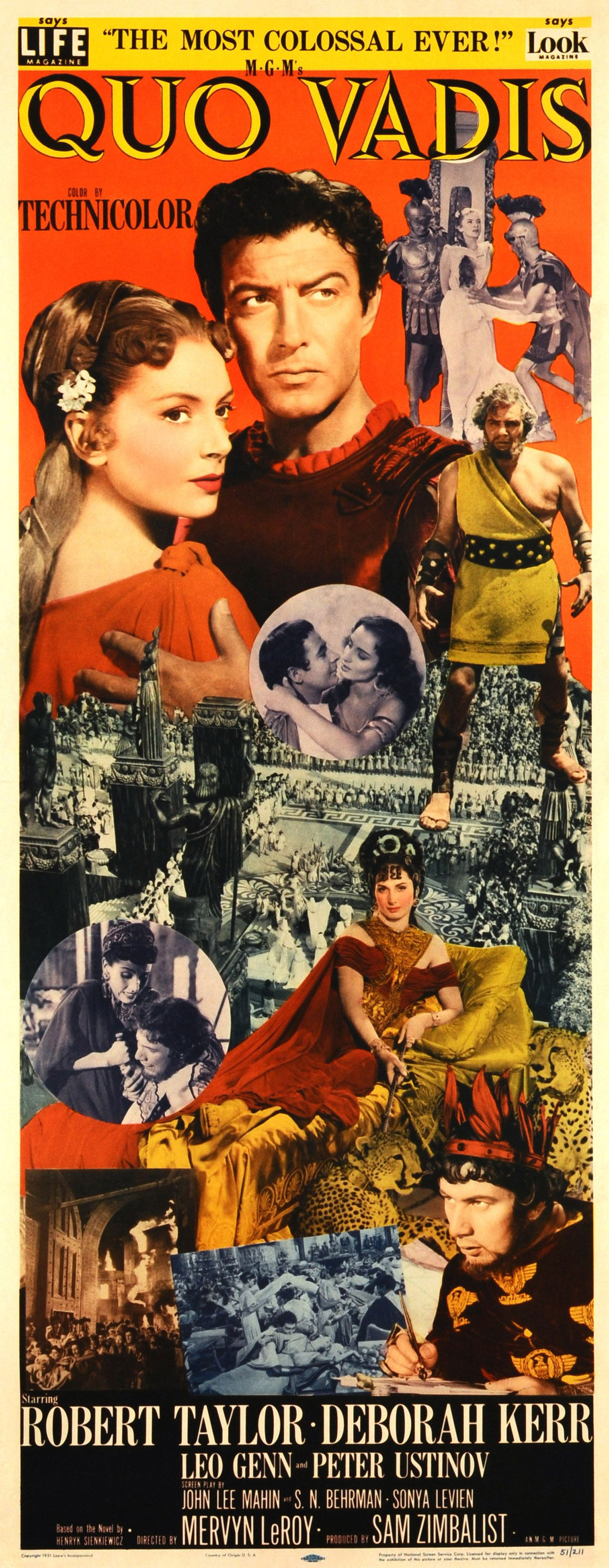 Quo Vadis 1952 Old Movie Posters Historical Film Movie